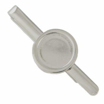 Tie Slide Blank 16mm Round Silver